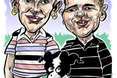 Caricature Gift A3 Colour Two Person