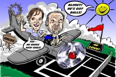 Caricature Gift Colour of Lord Sugar and Wife