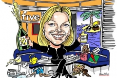 Caricature Gift Kirsty Young Five News