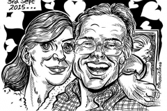 Caricature Gift of Couple on Wedding Anniversary