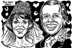Caricature Gift of Couple pn Wedding Day