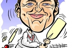 Caricature Gift playing Cricket