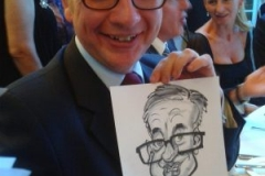 Live Caricature on the spot of Michael Gove