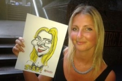 Live Caricatures pen and paper at events