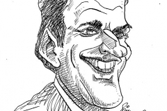 Caricature of Emmanuel Macron