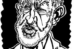 Caricature of Jeremy Corbyn
