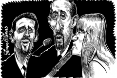 Caricature of Peter Paul and Mary