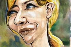 Caricature of Cate Blanchett