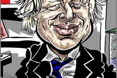 Caricature of Boris Johnson