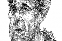 Caricature of John Kerry