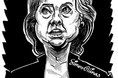 Caricature of Hillary Clinton