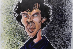 Caricature of Benedict Cumberbatch as Sherlock