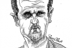 Caricature of Bashar al-Assad President of Syria