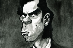 Caricature of Nick Cave