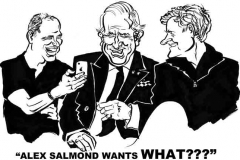 Caricature of Prince William, Prince Charles and Prince Harry