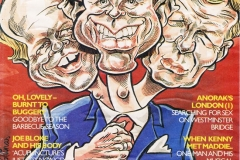 Cartoon illustration of party leaders on Midweek cover