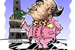 Cartoon illustration of Dr Pickwick for taxi