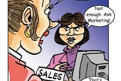 Cartoon illustration for business publicity campaign advertising