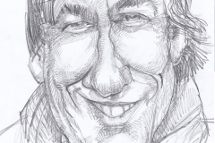 Pencil Sketch Caricature of Andrew Graham-Dixon