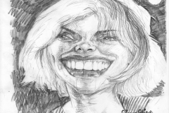 Pencil Sketch Drawing Caricature of Debbie Harry of Blondie