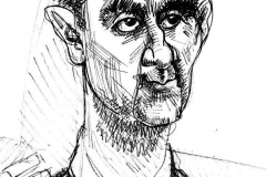 Pencil Sketch Drawing of Bashar Al-Assad