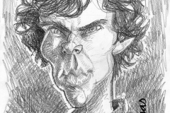 Pencil Sketch Drawing of Benedict Cumberbatch as Sherlock Holmes