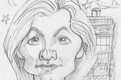 Pencil Sketch Drawing of Doctor Who Jodie Whittaker