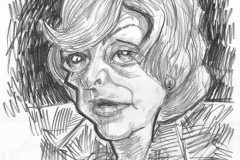 Pencil Sketch Drawing of Fiona Woolf
