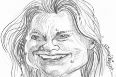Pencil Sketch Drawing of Justine Greening