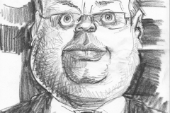Pencil Sketch Drawing of Lord Rennard