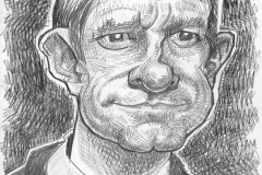 Pencil Sketch Drawing of Martin Freeman