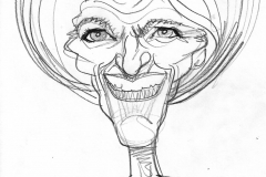 Pencil Sketch Drawing of Mary Berry