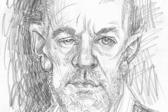 Pencil Sketch Drawing of Michael Stipe
