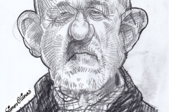 Pencil Sketch Drawing of Jonathan Banks as Mike Ehrmantraut from Breaking-Bad