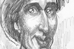 Pencil Sketch Drawing of Virginia Woolf