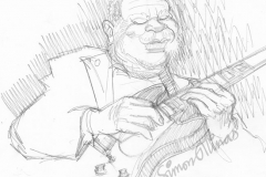 Pencil Sketch of BB King