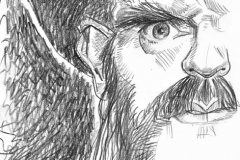 Pencil Sketch of Lemmy from Motorhead