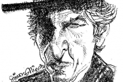 Pencil sketch Drawing of Bob Dylan