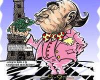 Cartoon Illustration of Dr Pickwick Taxi