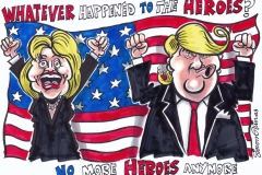 Topical Cartoon about Clinton and Trump Election