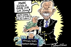Topical Cartoon about Tony Blair and Chilcott Inquiry