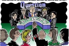 Topical Cartoon about the BNP on Question time