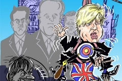 Topical Cartoon of Boris Johnson in Total Politics Magazine