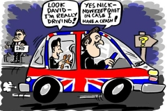 Topical Cartoon of David Cameron and Nick Clegg Coalition