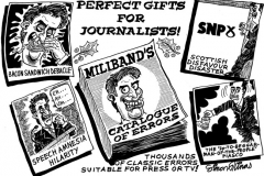 Topical Cartoon of Ed Miliband Catalogue of Errors