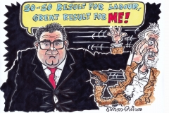 Topical Cartoon of Tom Watson versus Jeremy Corbyn