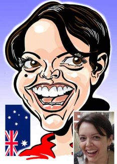 A4 Colour Emailed Caricature Gift from photo by caricaturist in London