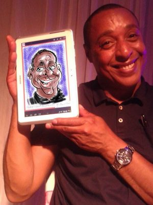 Digital Caricatures at Parties