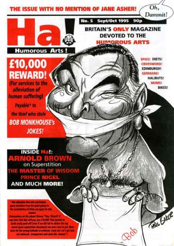 Cover of cartoons and caricature magazine Ha! Humorous Arts