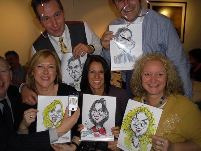 Caricatures live on the spot at an event with Caricaturist in London Simon Ellinas